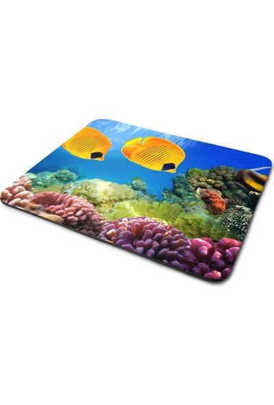 Wuw Sarı Balıklar Mouse Pad