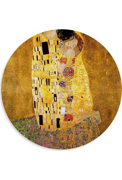 Wuw Gustav Klimt The Kiss Yuvarlak Mouse Pad