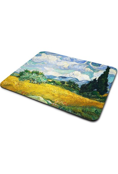 Wuw Van Gogh Wheat Field With Cypresses Mouse Pad