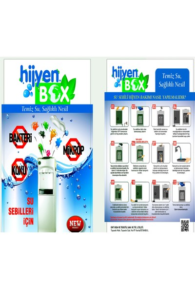 Hijyen Box Sebil Temizlik Sıvı Jel Solüsyon Temizleme Seti 2 Kutu
