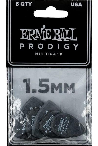 Ernie Ball P09342 / 1.5mm Black Multipack Prodigy 6'lı Pena
