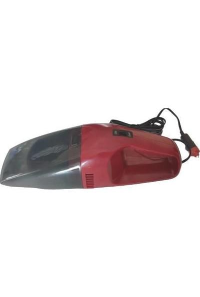 Carub Carub Oto Süpürgesi 12V Çakmaktan Kırmızı Ce Belgeli 60 Watt