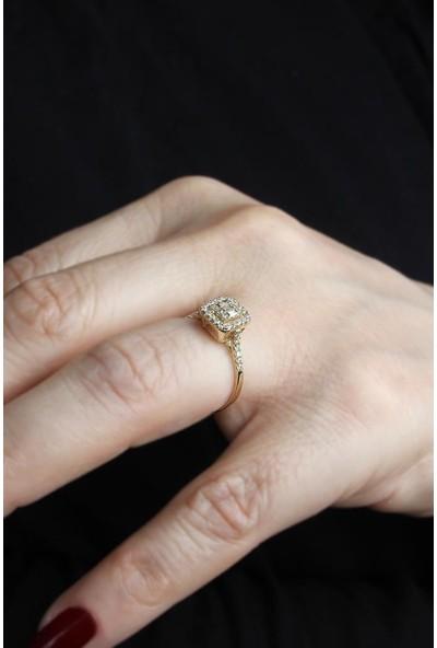 In Love Baget Taşlı Altın Yüzük Inlove 14 Ayar Altın Yüzük
