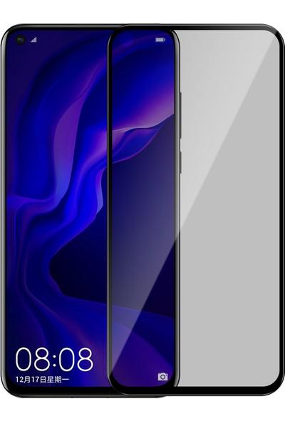 Kny Huawei P40 Lite 5D Privacy Cam Ekran Koruyucu Siyah Sİyah