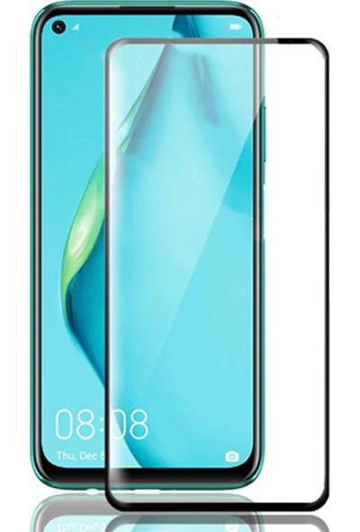 Kny Huawei P40 Lite E Kenarı Kırılmaya Dayanıklı 5D Cam Ekran Koruyucu Sİyah
