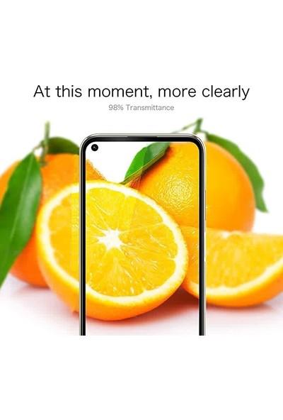 Kny Huawei P40 Lite Kenarı Kırılmaya Dayanıklı 5D Cam Ekran Koruyucu Sİyah