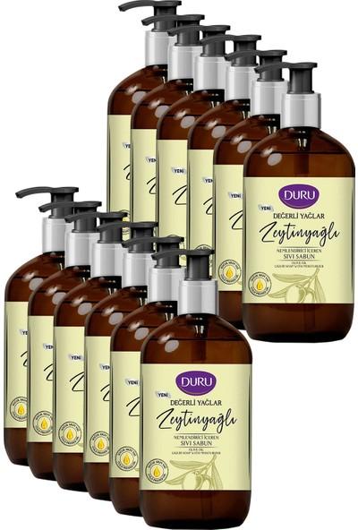 Duru Değerli Yağlar Nemlendirici Zeytinyağı Sıvı Sabun 750 ml x 12 Adet