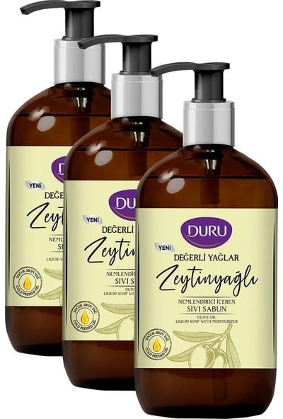 Duru Değerli Yağlar Nemlendirici Zeytinyağı Sıvı Sabun 3 x 750 ml