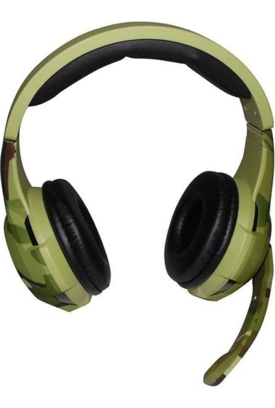 Tucci A4 Gaming Oyuncu Kablolu Mikrofonlu Kamuflaj Kulaklık
