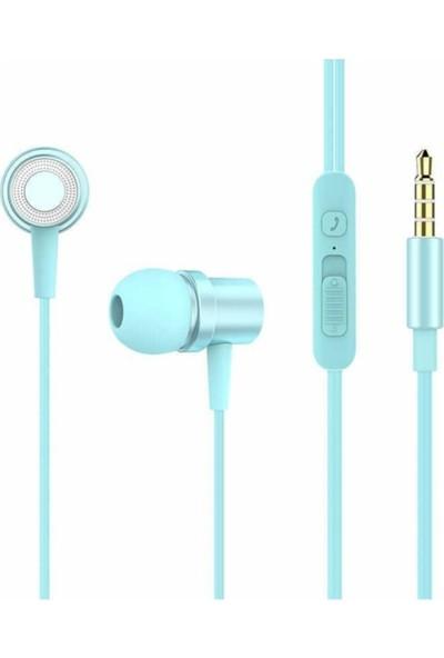 Xipin Hx Y01 Kulakiçi Mikrofonlu Kulaklık Mavi Renk