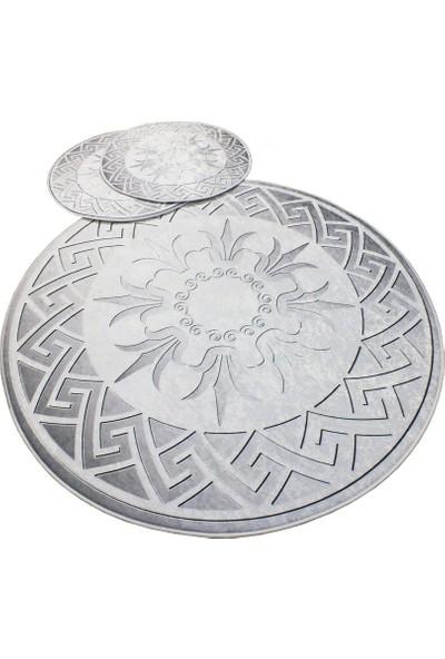 Evpanya Gümüş Summer Serisi 3'lü Banyo Paspas Seti
