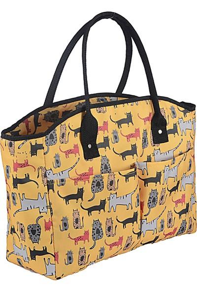 Biggdesign Cats Sarı Soğuk Tutucu Çanta
