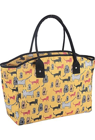 Biggdesign Cats Sarı Isı Yalıtımlı Çanta