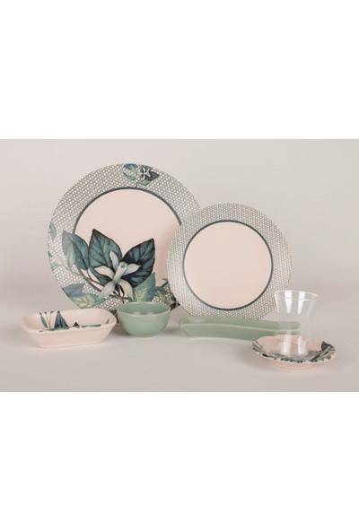Keramika 19 Parça Mat Kahvaltı Takımı