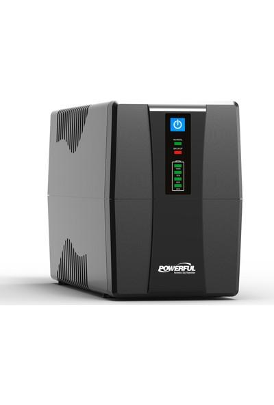 Powerful SLE-650 650VA Line Interactive Ups Kesintisiz Güç Kaynağı