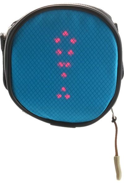 Lixada Hafif USB Şarj Edilebilir LED Sinyal Işıklı Bisiklet Çantası