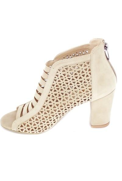 Punto 531045 Kalın Topuk Süet Ayakkabı