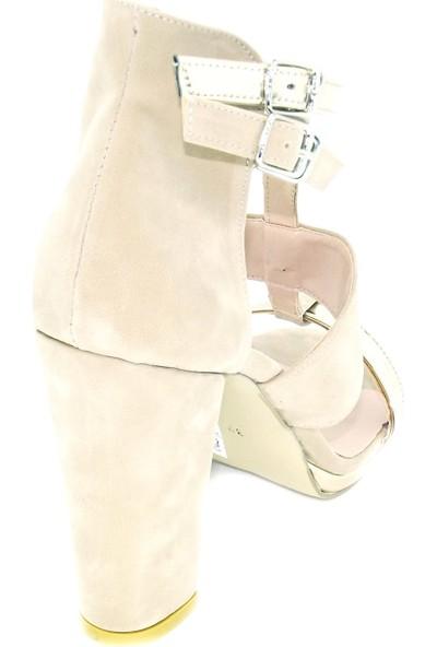 Punto 446002 Kalın Topuk Süet Ayakkabı