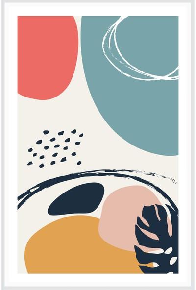 Çerçeve Home Üçlü Çerçeveli Poster Seti Abstract Shapes 2