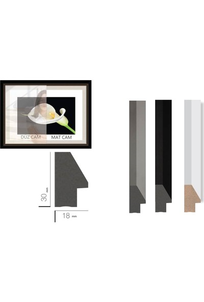 Çerçeve Home Üçlü Çerçeveli Poster Seti Abstract Shapes