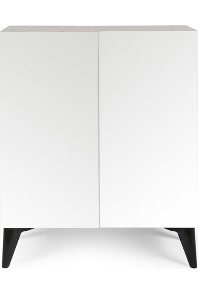 Mas Wooden Aletta Ayakkabılık Beyaz Midi MAS0635