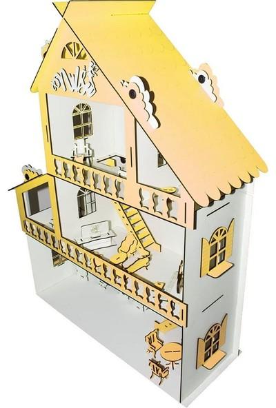 İpek Yolu Ahşap Çocuk Oyun Evi 65cm ve 28 Mobilyalı