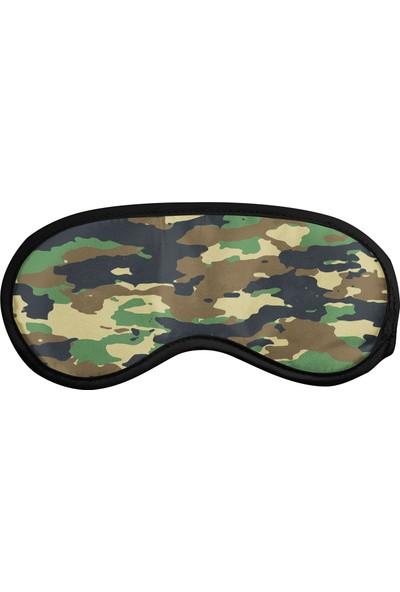 Cupgel Cpart Askeri Kamuflaj Desenli Uyku Göz Bandı