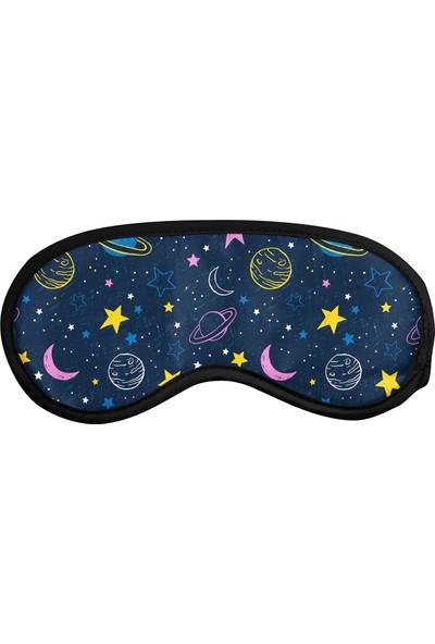 Cupgel Cpart Gece Desenli Uyku Göz Bandı