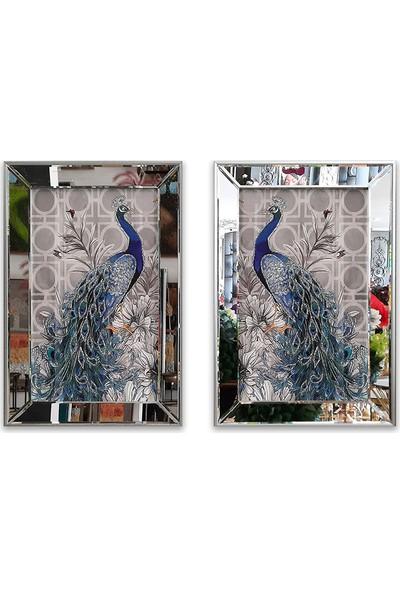 Atl Dekor Tavus Kuşu Çiçekli 2'li Takım