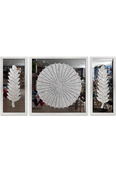 Almira Gümüş 3'lü Takım Füme Ayna