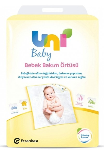 Uni Baby Bebek Bakım Örtüsü 10 x 6 Adet