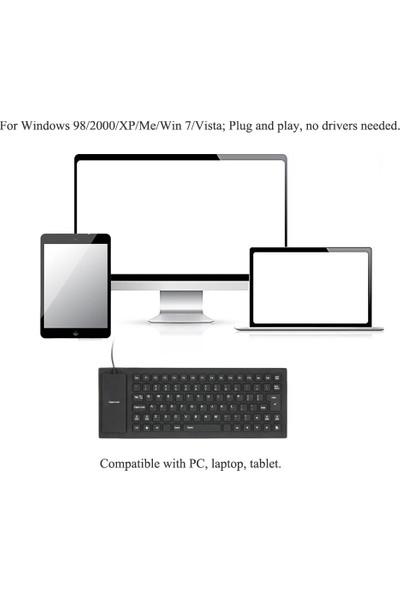 Buyfun 85 Tuş Katlanabilir Silikon Klavye (Yurt Dışından)