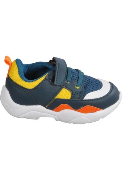 Cool 20-S19 Petrol-F.sarı Bebek Spor Ayakkabı