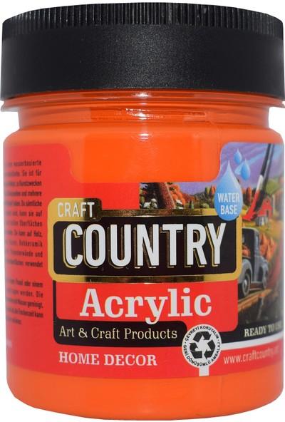 Craft Country Akrilik Hobi Boyası 120 Cc 116 Turuncu