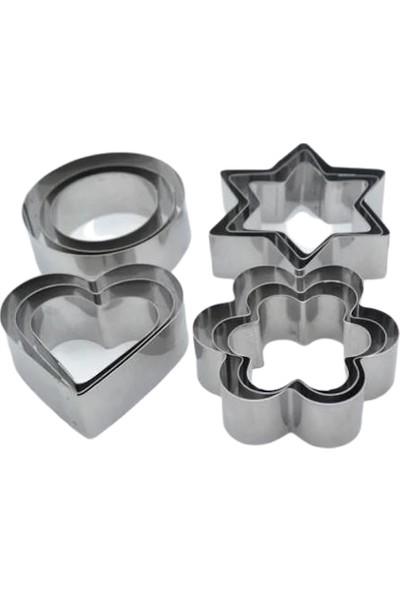 Penguen Metal Kurabiye Kalıbı Kalp Papatya Yuvarlak Yıldız