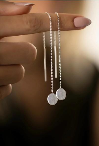 Midyat Nurtaş Gümüş Yuvarlak Model Gümüş Küpe