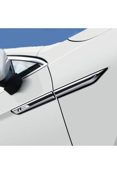 Meliset Volkswagen Passat R-Line 4'lü Çamurluk Logosu Siyah