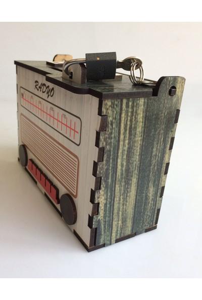 Pratik Dekor Radyo Kumbara Nostaljik Yeşil