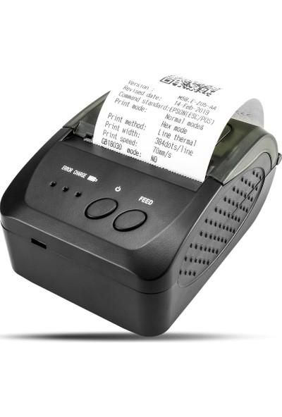 Ptfis Nt Taşınabilir Kablosuz Bluetooth Termal Yazıcı 58MM