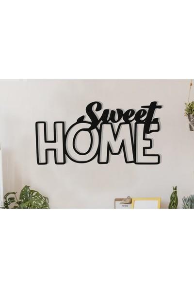 Vatmart Sweet Home Yazılı Dekoratif Metal Duvar Tablo