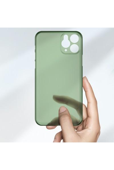 Vendas Apple iPhone 11 Pro Max Wing Serisi Ince Silikon Kılıf - Yeşil