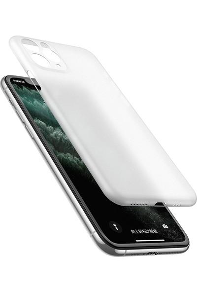 Vendas Apple iPhone 11 Pro Max Wing Serisi Ince Silikon Kılıf - Şeffaf