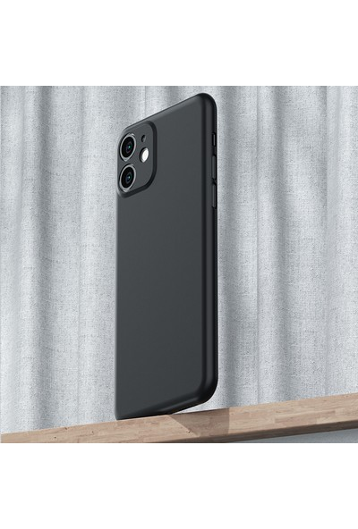 Vendas Apple iPhone 11 Wing Serisi Ince Silikon Kılıf - Siyah