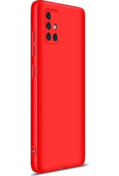 Vendas Samsung A71 Full Body Tam Kaplama Koruyucu Kılıf - Kırmızı