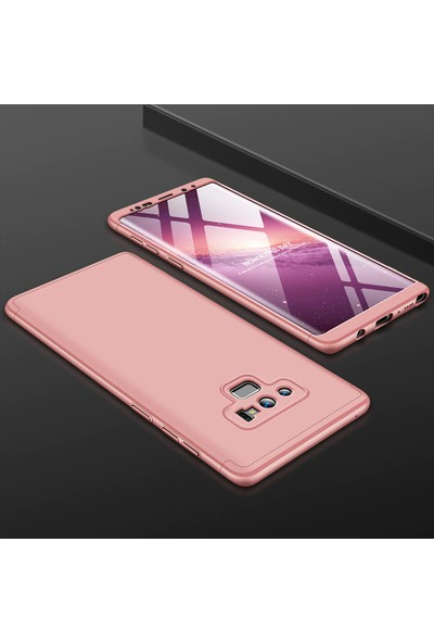 Vendas Samsung Note 9 Full Body Tam Kaplama Koruyucu Kılıf - Rose Gold