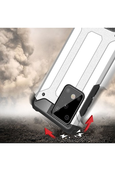 Vendas Samsung S20 Ultra Secure Serisi Maksimum Korumalı Kılıf - Silver