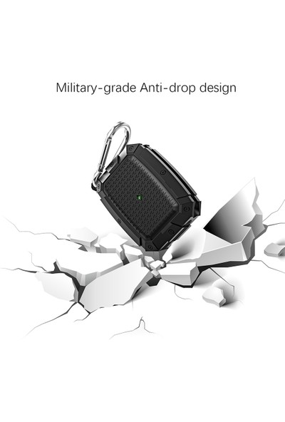 Vendas AirPods Pro Airbag Tasarımlı Mandallı Koruyucu Kılıf - Siyah