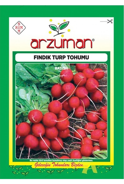 Mutbirlik Yaprağı Yenen Fındık Turp Tohumu-25 Gram