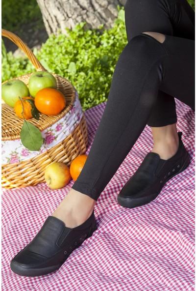 Tarçın TRC50-0502 Hakiki Deri Siyah Kadın Spor Ayakkabı