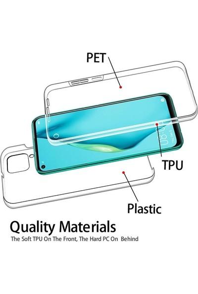 Gpack Huawei P40 Lite Kılıf Ön Arka Şeffaf Silikon Koruma Şeffaf